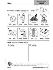 Phonics: /0/ Vowel Patterns - a, ai, au Worksheet