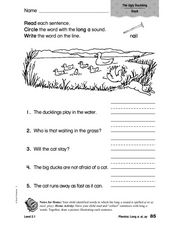 Phonics: Long a: ai, ay Worksheet