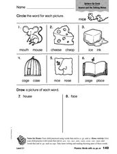Phonics: Words with ce, se, ge Worksheet