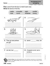 Vocabulary: The Puddle Pail/Start Collecting! It's Fun! Worksheet
