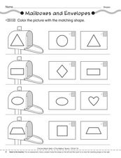 Mailboxes and Envelopes Worksheet