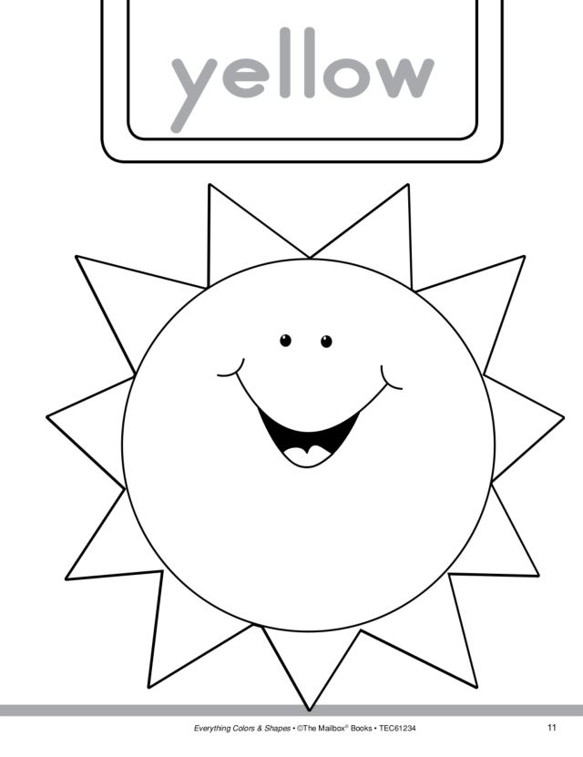 Colors and Shapes: Yellow and Triangle Worksheet for Pre-K ...