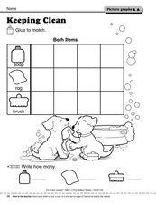 Keeping Clean: Picture Graph Worksheet