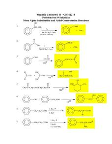 Alpha Substitution and Aldol Condensation Reactions Lesson Plan