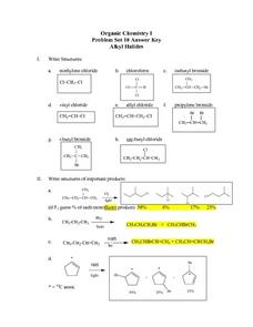 Alkyl Halides Lesson Plan