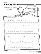 Stitch by Stitch Worksheet