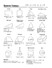 Geometric Formulas Lesson Plan