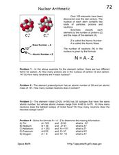 Nuclear Arithmetic Worksheet