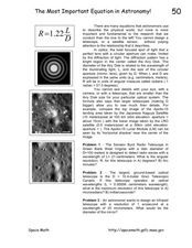 The Most Important Equation in Astronomy! Worksheet