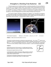 Atmospheric Shielding from Radiation III Worksheet