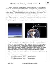 Atmospheric Shielding from Radiation I Worksheet