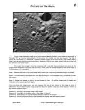 Craters on the Moon Worksheet