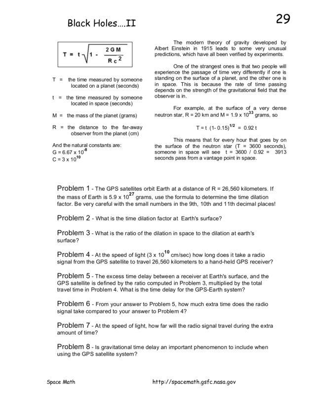 Time Dilation Worksheet - The Best and Most Comprehensive Worksheets