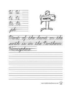 Cursive Practice-- Sentence Writing Lesson Plan
