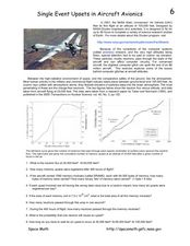 Single Event Upsets in Aircraft Avionics Worksheet