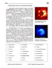 A Bird's Eye Look at the Sun-Earth System Worksheet