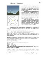 Planetary Alignments Worksheet
