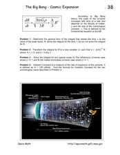 The Big Bang-Cosmic Expansion Worksheet