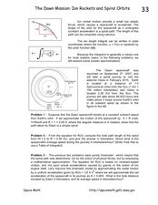 The Dawn Mission: Ion Rockets and Spiral Orbits Worksheet