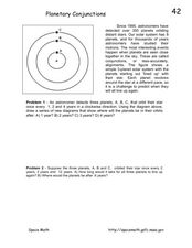 Planetary Conjunctions Worksheet