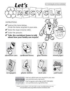 Let's Recycle Worksheet