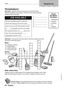 Vocabulary: Meeting Mr. Henry Worksheet