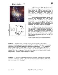 Black Holes...V Worksheet