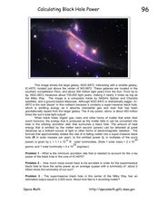 Calculating Black Hole Power Worksheet