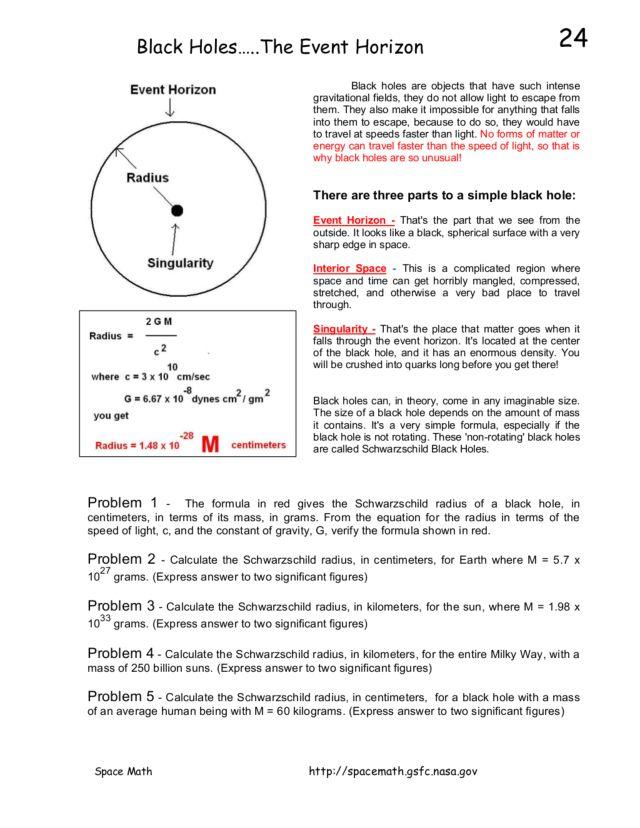 black holes worksheet - photo #11