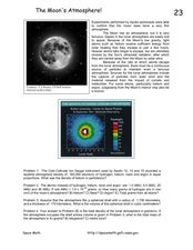 The Moon's Atmosphere Worksheet