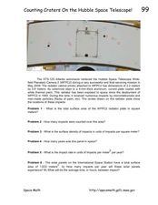 Counting Craters on the Hubble Space Telescope! Worksheet