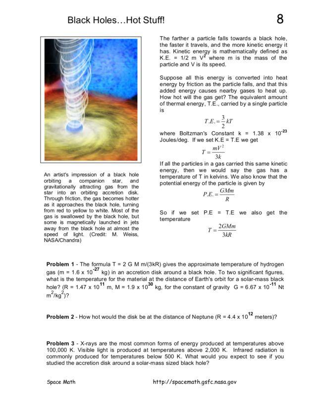 black holes worksheet - photo #20