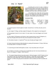 Are U Nuts? Worksheet