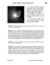 Deep Impact Comet Encounter Worksheet