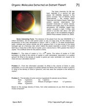 Organic Molecules Detected on Distant Planet! Worksheet