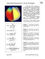 "Space Math Differentiation-""Ch..Ch..Ch..Changes"" Worksheet"