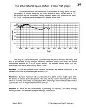 The International Space Station-Follow that Graph! Worksheet