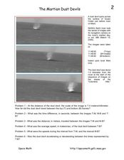 The Martian Dust Devils Worksheet