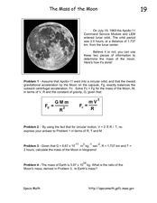 The Mass of the Moon Lesson Plan