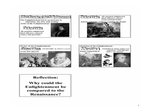 Figures of the Enlightenment Lesson Plan