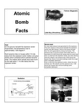 Atomic Bomb Facts Lesson Plan