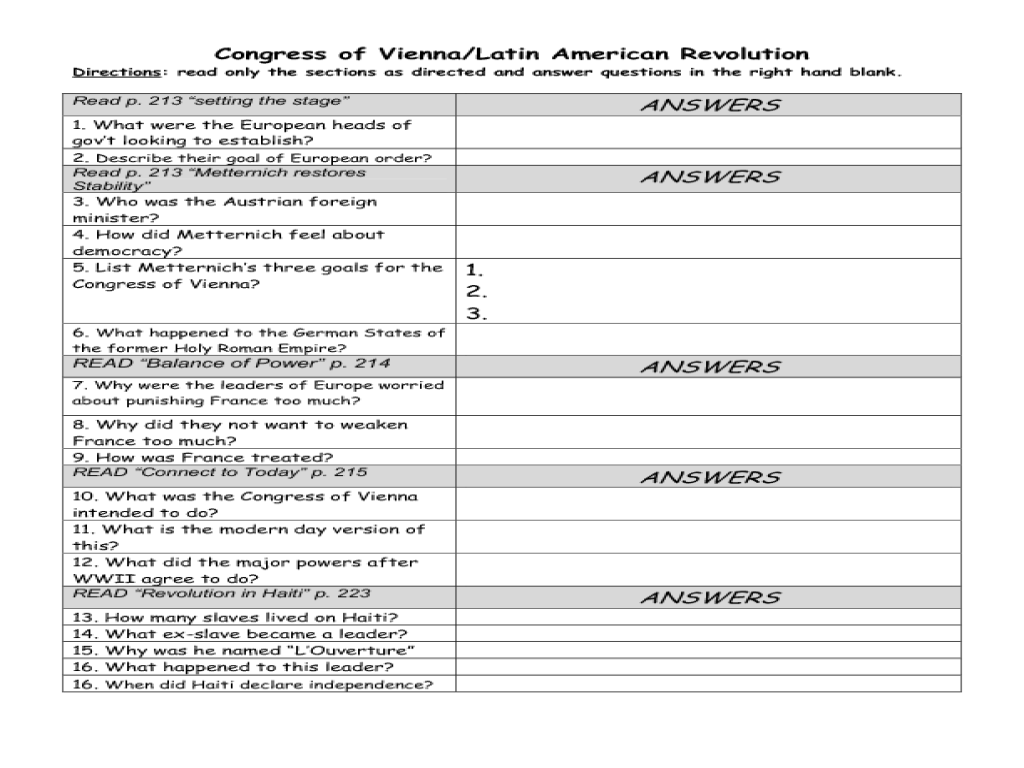 The Congress At Work Worksheet Worksheets for all | Download and ...