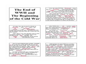 The End of WWII and The Beginning of the Cold War Lesson Plan