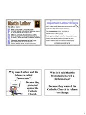 Martin Luther Lesson Plan