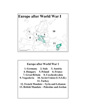 Europe after World War I Lesson Plan