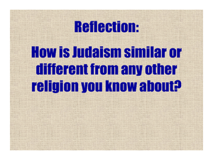 The Beliefs of Judaism: T.O.R.A.H. Lesson Plan