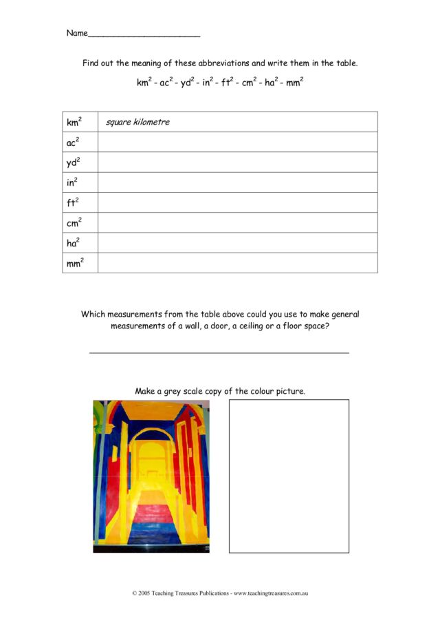 measurement abbreviations worksheet for 4th 7th grade lesson planet. Black Bedroom Furniture Sets. Home Design Ideas