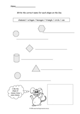 Geometric Shapes Three Worksheet