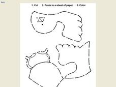 Cut, Paste and Color Worksheet