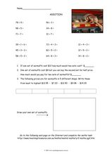 Addition Math Review 3 Worksheet